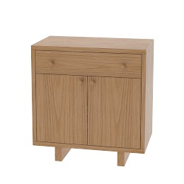 Parsons Nightstand with Doors