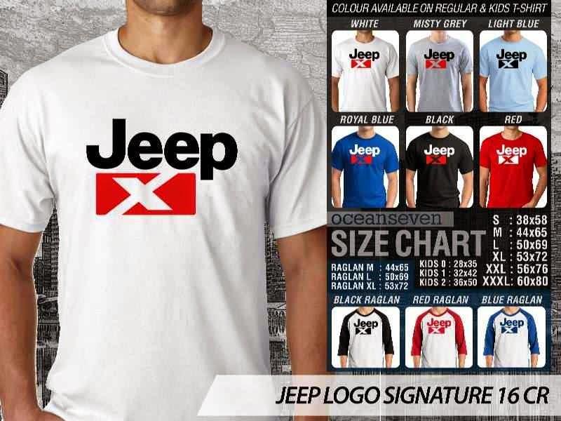 jual kaos jeep Logo Signature 16 distro