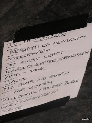 Bolt Thrower : set-list @ Le Trabendo, Paris 07/05/2010