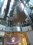 The massive elevator bay