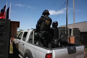 Efectivos de la PDI que participaron de los allanamientos | Danilo Ormeño (RBB)
