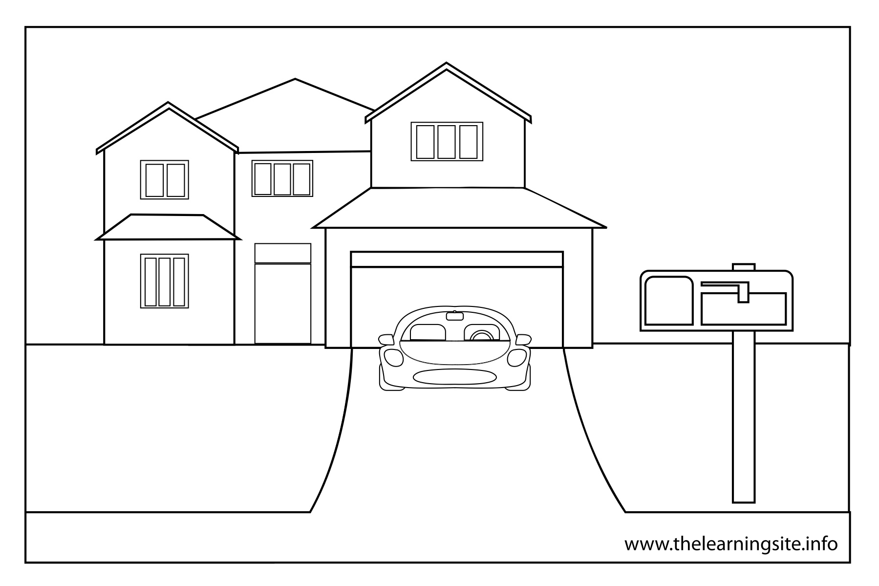 car garage coloring pages - photo#34