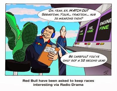 Гийом Роклен просит Себастьяна Феттеля сбавить темп - комикс Stuart Taylor по Гран-при США 2013