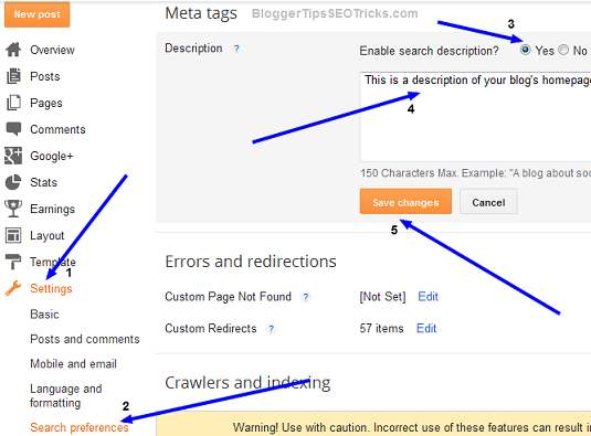 enable meta description option for post editor