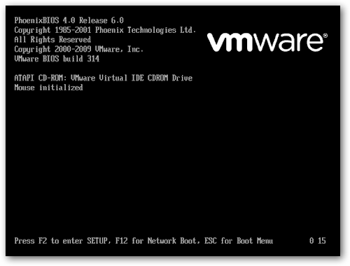 Cum sa adaugi o temporizare ecranului de boot in VMWare