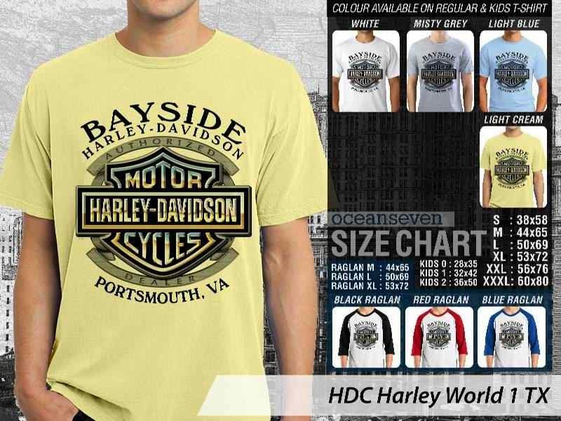 Kaos Motor Harley Davidson World 1 distro ocean seven