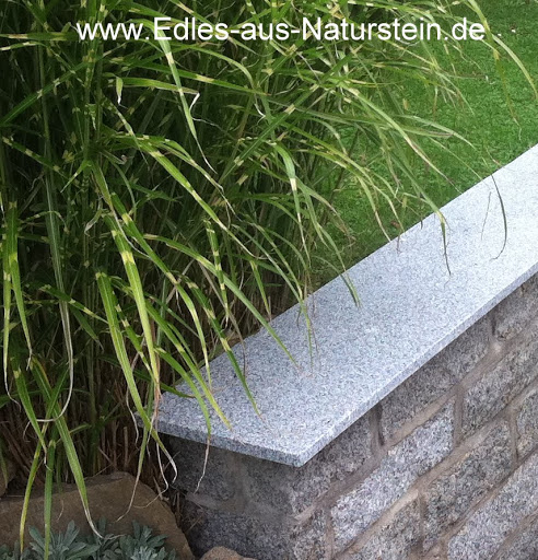 mauerabdeckung naturstein grau granit abdeckung abdeckplatte mauer sohlbank neu ebay. Black Bedroom Furniture Sets. Home Design Ideas