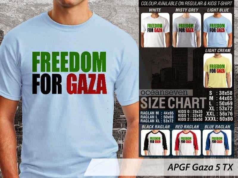 Kaos Muslim Islam Gaza 5 distro ocean seven