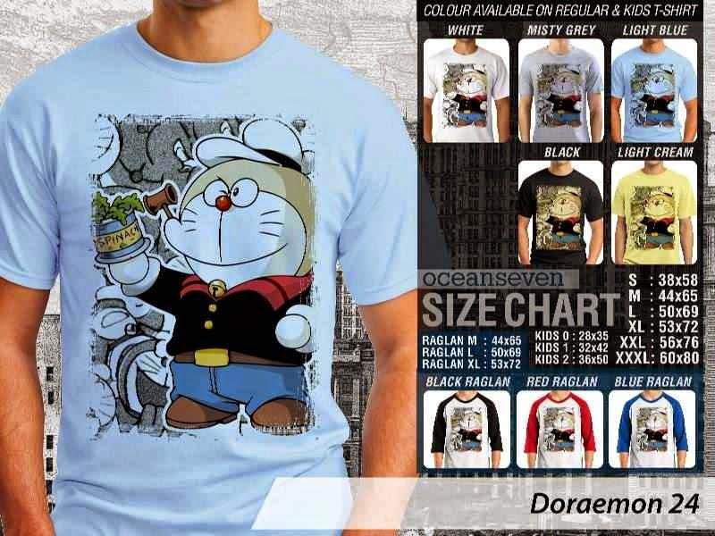 KAOS Doraemon 24 Manga Lucu distro ocean seven