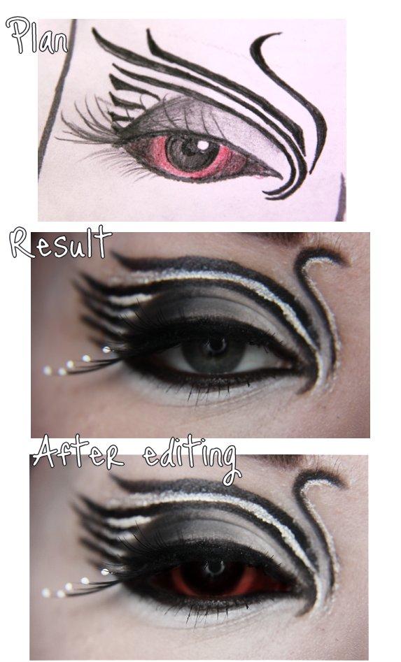 Black swan makeup step by step