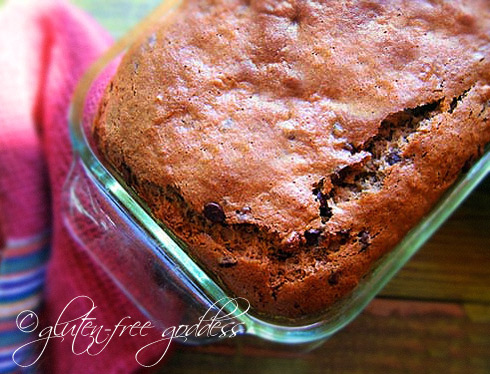 Gluten free banana chocolate chip bread