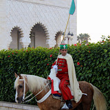 A Moroccan Guard On Horseback at the Mohammed V Mausoleum - Rabat, Morocco