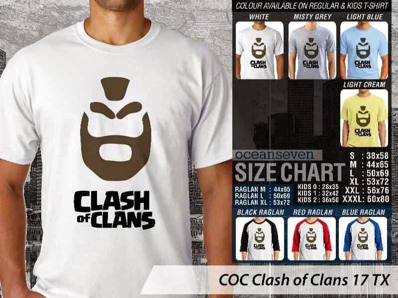 Kaos COC Clash of Clans 17 distro ocean seven