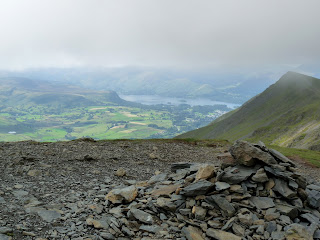 Blencathra Summit with Derwentwater