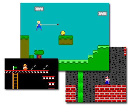 Screen shots from some of my early QBasic games