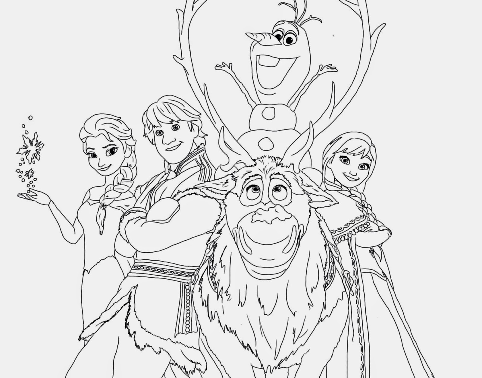 Frozen Coloring Pages Colouring Page Free Printable  - coloring pages free printable disney