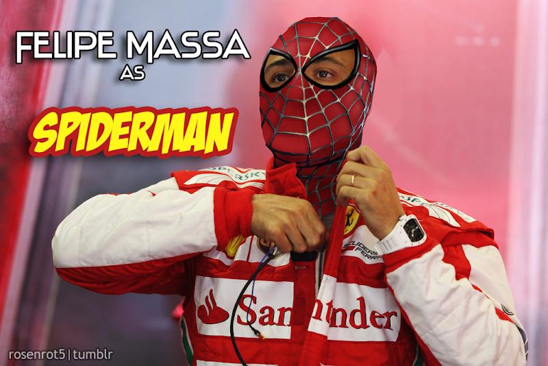 Фелипе Масса Человек-паук Spiderman by rosenrot5