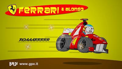 Фернандо Алонсо и Ferrari 2011 комикс Baldi