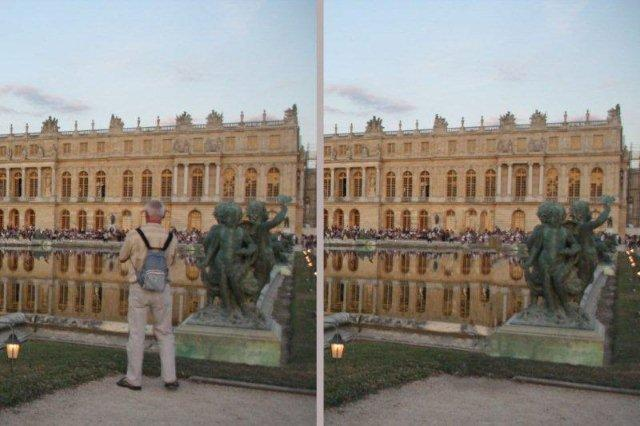 Edicion digital Foto en Versalles editada con Photoshop