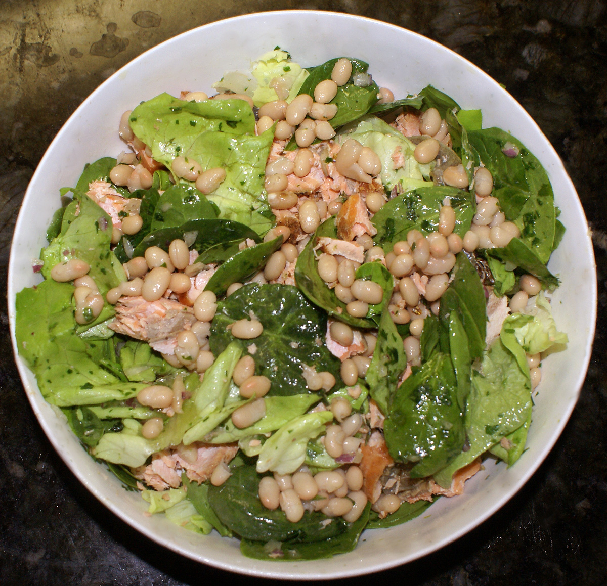 White Bean, Citrus, and Salmon Salad