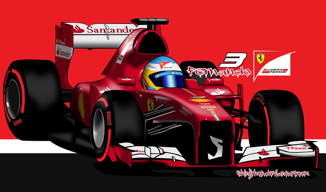 Фернандо Алонсо ChibiAlo Ferrari - комикс ShinjiRHCP