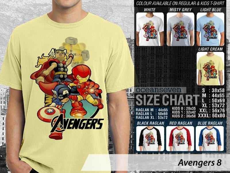 Jual Kaos Captain America hulk iron man thor 8 Avengers