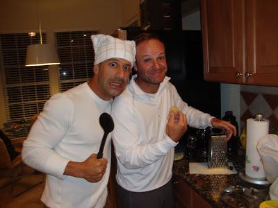 Тони Канаан и Рубенс Баррикелло на кухне
