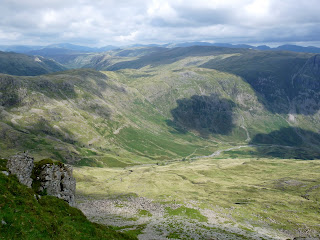 Mickleden from The Climbers Traverse - Bowfell