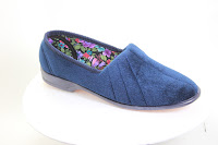 European-made blue slipper from Veganline.com