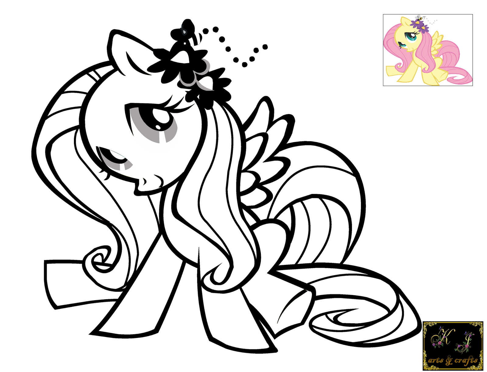 Free Fluttershy My Little Pony Coloring Pages Printable