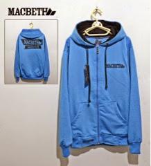 Jaket Macbeth 01 Biru Logo Hitam