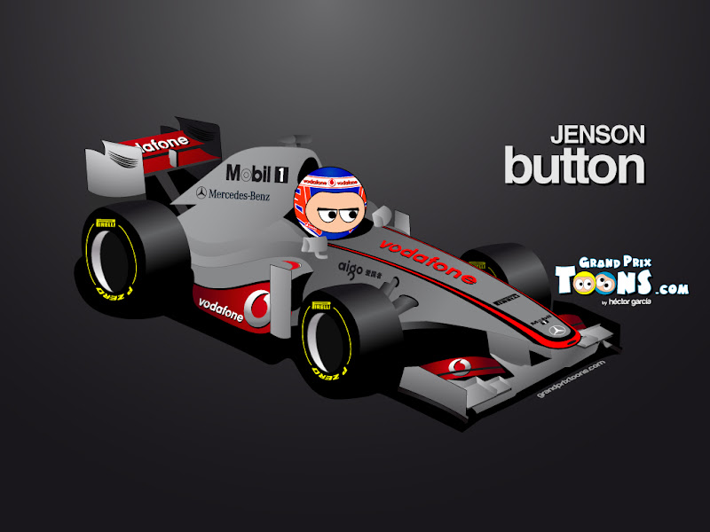 Дженсон Баттон McLaren MP4-27 2012 Grand Prix Toons