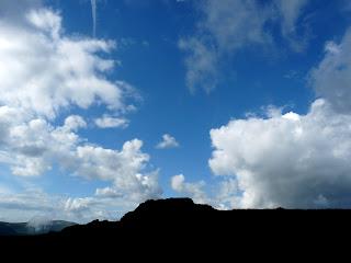 Blue sky over Great Crag.