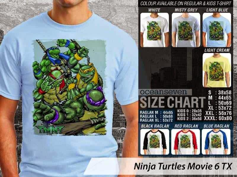 Kaos Movie Film Ninja Turtles Movie 6 distro ocean seven