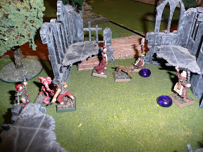 Ghast attempting to rescue a soon to be staked minor vampire
