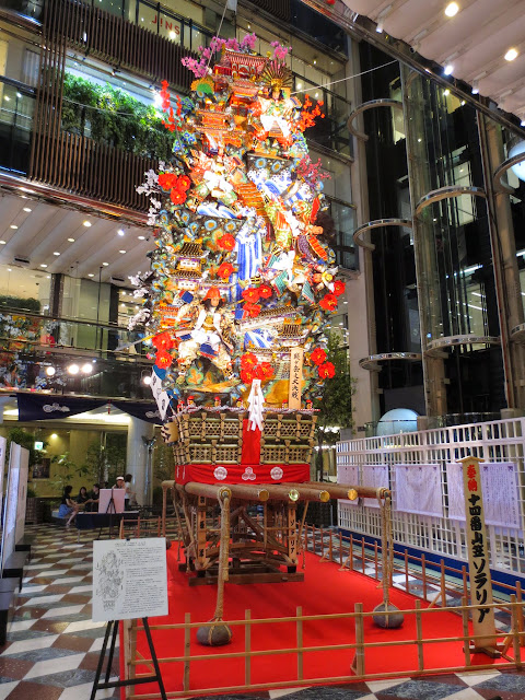 One of the huge Yamakasa floats on display, ahead of the upcoming Hakata Gion Yamakasa (festival)