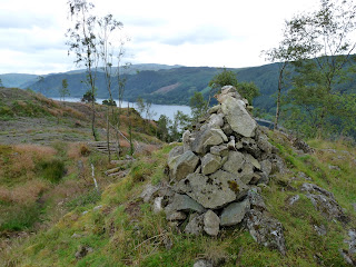 There seemed to be two cairns at the summit of Great How. This is looking to Thirlmere from one of them.