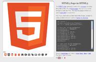 HTML5 logo in HTML5