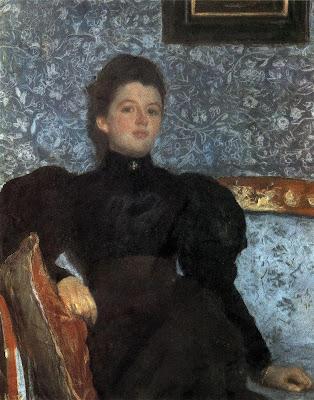 Valentin Serov - Portrait of VV Musina - Pushkina. 1895