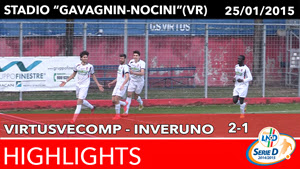 VirtusVecomp - Inveruno - Highlights del 25-01-2015