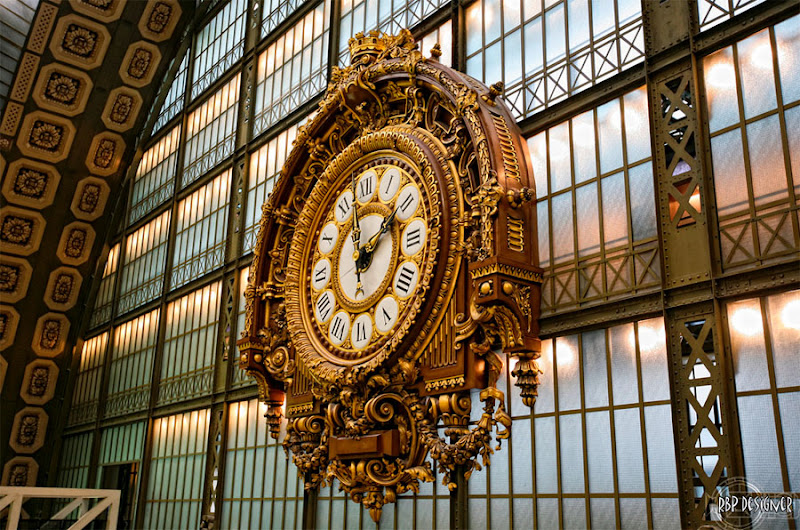 Victor Lalouxs Beaux Arts Clock In The Orsay Museum Paris Photo By Ruy Barbosa Pinto
