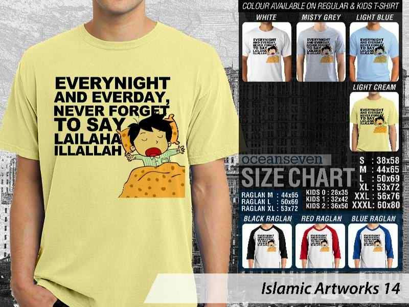 KAOS Islam Muslim Everynight and everyday. never forget to say lailaha illallah. Islamic Artworks 14 distro ocean seven