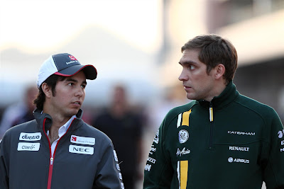 Серхио Перес и Виталий Петров на Гран-при Кореи 2012