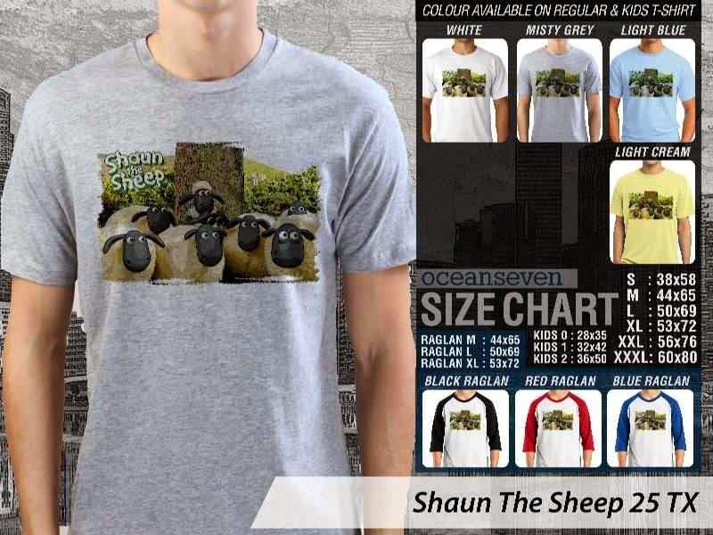 Kaos Movie Shaun The Sheep 25 distro ocean seven