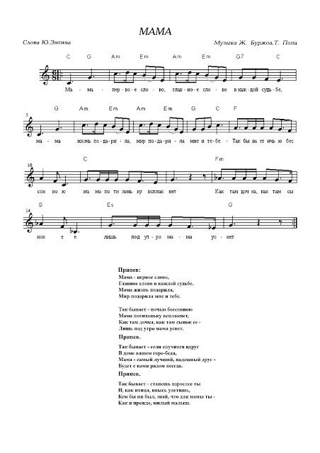 Скачать минусовку детские песни песня про маму