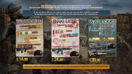 War Inc. Battlezone, One Time Special Offer Packages