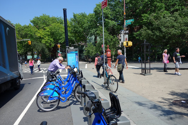 Another Citi Bike station in the West Village.