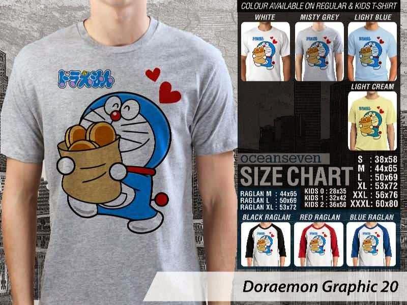 KAOS Doraemon 60 Manga Lucu distro ocean seven