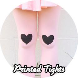 printed tights DIY