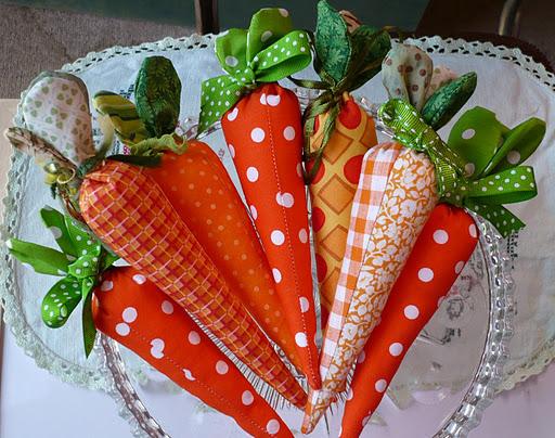 Морковки из ткани своими руками